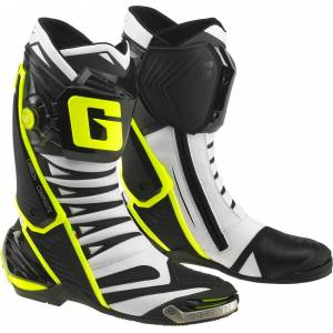 Gaerne GP1 Evo Bottes de moto Noir Blanc Jaune 46