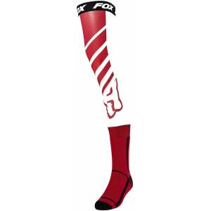 FOX Mach One Chaussettes Knee Brace Blanc Rouge M