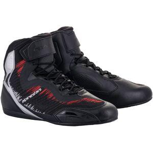 Alpinestars Faster-3 Rideknit Chaussures de moto Noir Rouge Argent 38 39