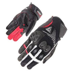 Orina Space Gants de moto Noir Blanc Rouge L