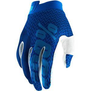 100% Itrack Gants Bleu 2XL