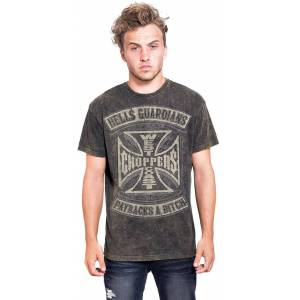 West Coast Choppers Hells Guardians Vintage t-shirt Brun 4XL