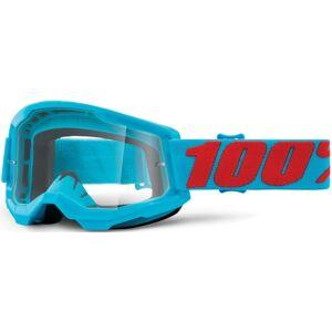 100% Strata II Summit Lunettes de motocross Rouge Bleu unique taille