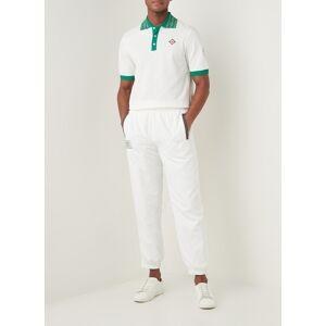 casablanca Pantalon de jogging coupe fuselée avec logo - Blanc