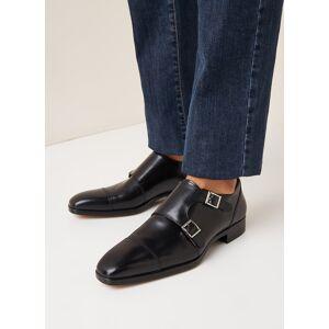 santoni Chaussure Monk Mosley en cuir - Noir