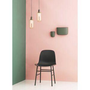 normann copenhagen Chaise Form Chair avec base en acier - Zwart