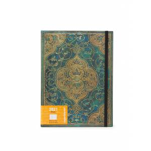 paperblanks Calendrier Turquoise Chronicles Ultra 2021 - Vert foncé