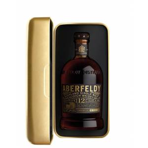 Aberfeldy - Montagnes Highland Single Malt Scotch Whisky Guaranteed 12 Years in Oak Gold Bar Aberfeld