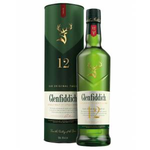 Glenfiddich - Speyside Single Malt Scotch Whisky Our Original 12 Glenfiddich 0,7 ℓ, Avec caisse