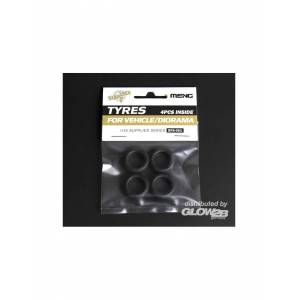 MENG-Model SPS-001 : Tyres for Vehicle/Diorama (4pcs) 1:35