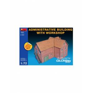 MiniArt 72021 : Administrative Building with Workshop 1:72