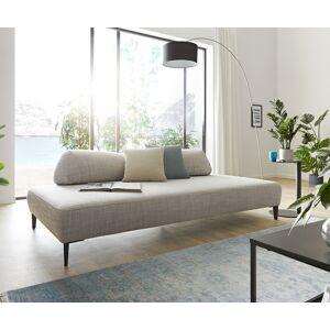 W.Schillig Chaise-longue Puzzle 225x110 gris argenté couverture câlin de W. Schillig