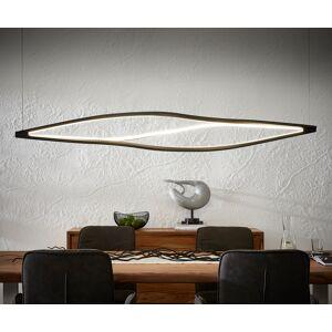 DELIFE Plafonnier Gabbiano 178x144x27 cm lampe design LED noir 86W