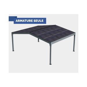 Atrium Concept Pergola solaire FUTUR (Autoportée) 2 pentes - Armature seule