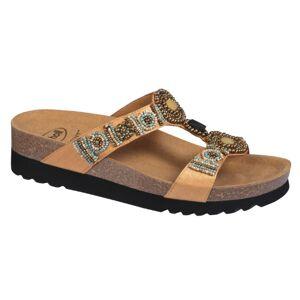 Scholl Chaussures Été Scholl Chaussures de Confort Mules New Bogota Wedge Or Taille 41