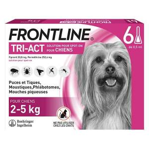 Frontline Tri-Act Chiens XS 2-5 kg 6 Pipettes