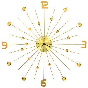 vidaXL Horloge murale Métal 70 cm Doré