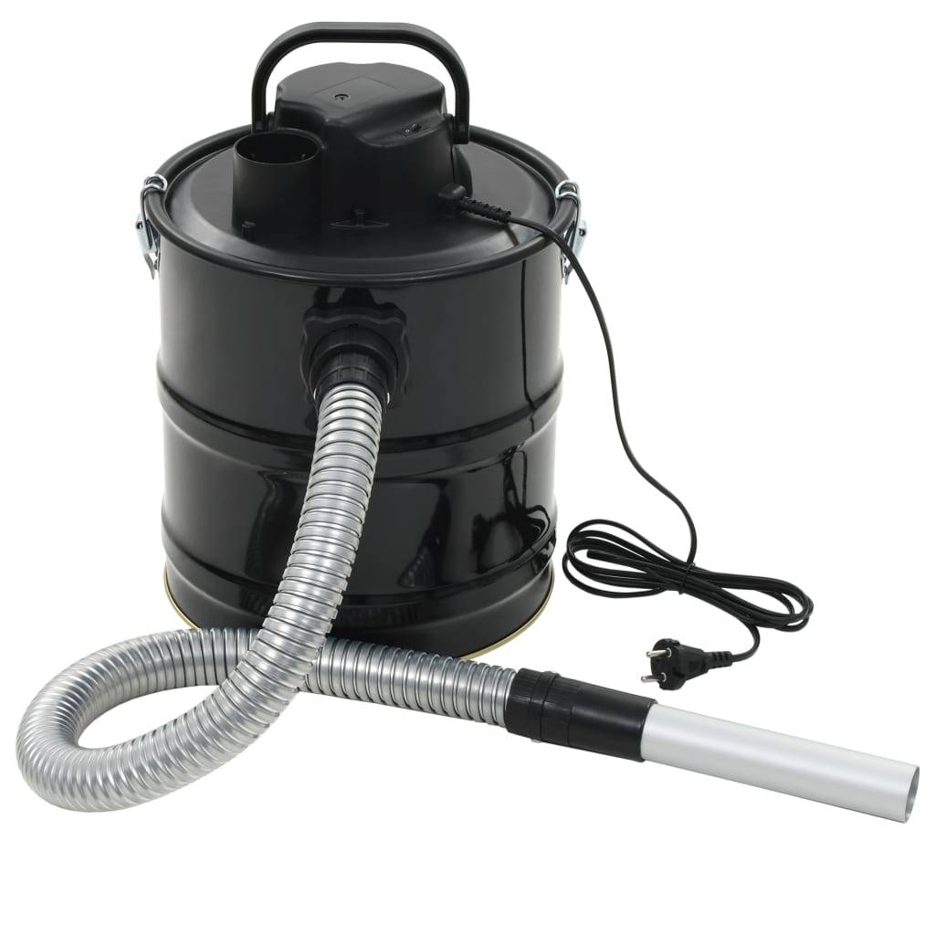 vidaXL Aspirateur à cendres avec filtre HEPA 1000 W 20 L Noir