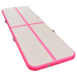 vidaXL Tapis gonflable de gymnastique avec pompe 600x100x10cm PVC Rose