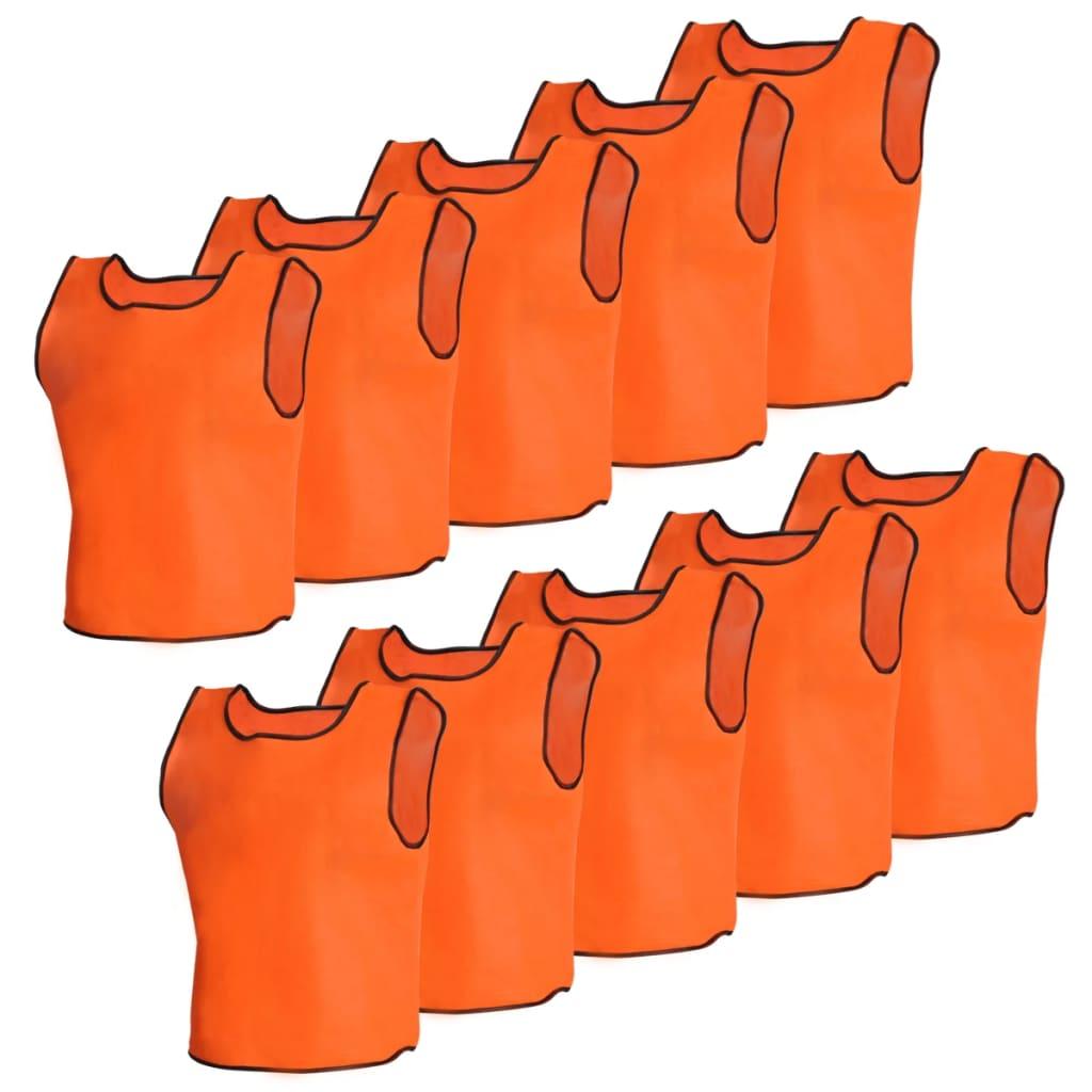 vidaXL 10 pcs Gilet de formation Junior Orange