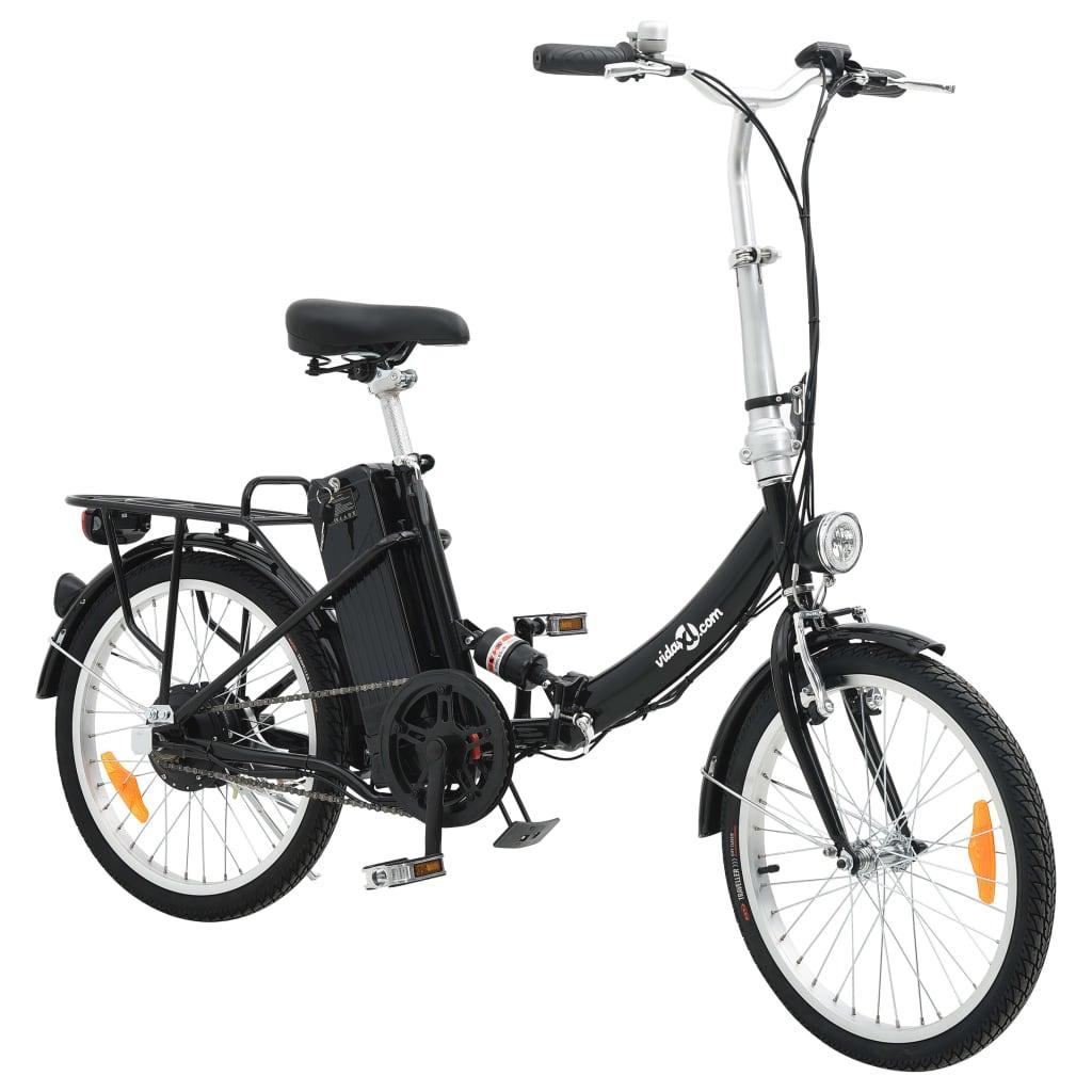 vidaXL Vélo électrique pliable et pile lithium-ion Alliage d'aluminium