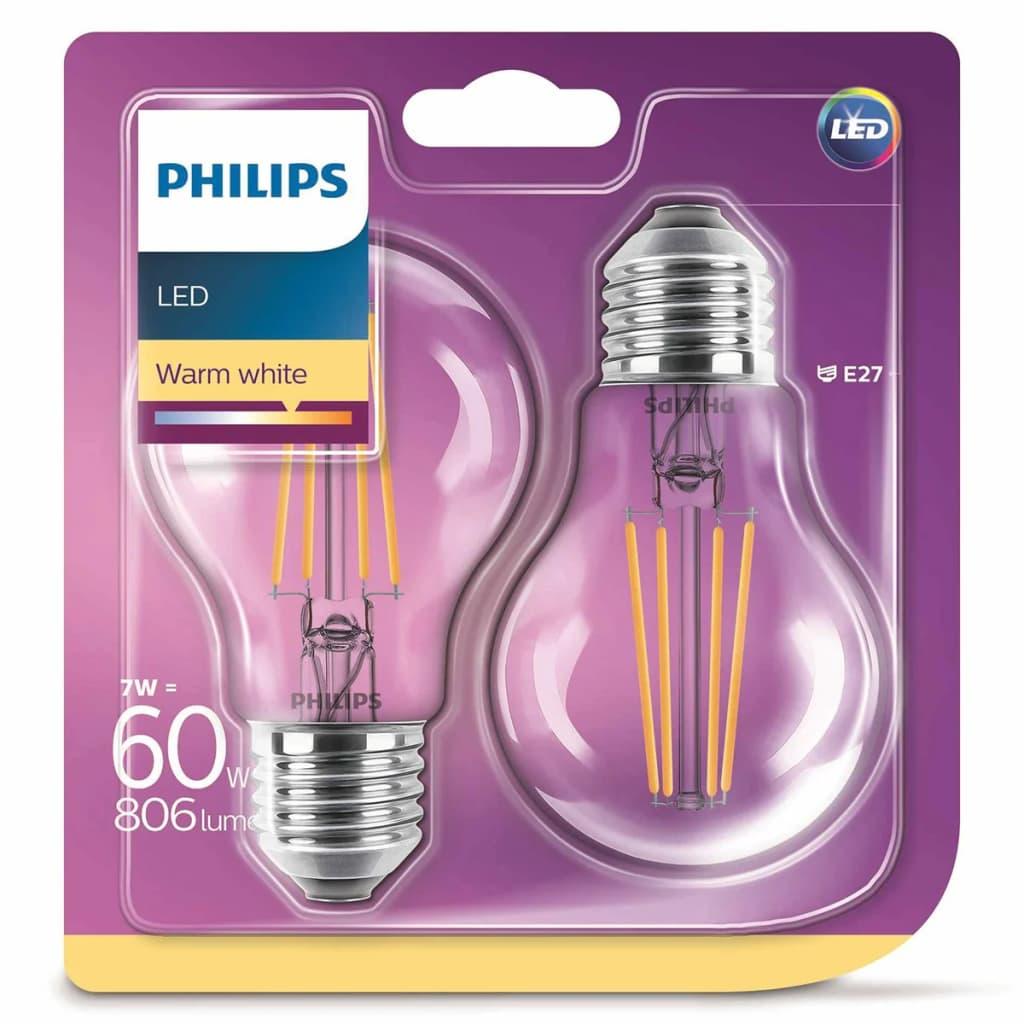 Philips Ampoule LED 2 pcs Classique 7 W 806 Lumens 929001387371