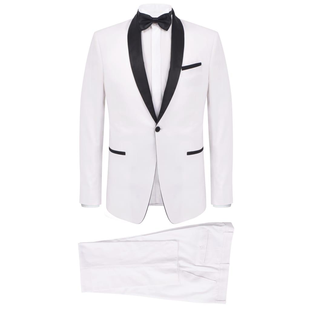 vidaXL Smoking de soirée 2 pièces Taille 52 Blanc