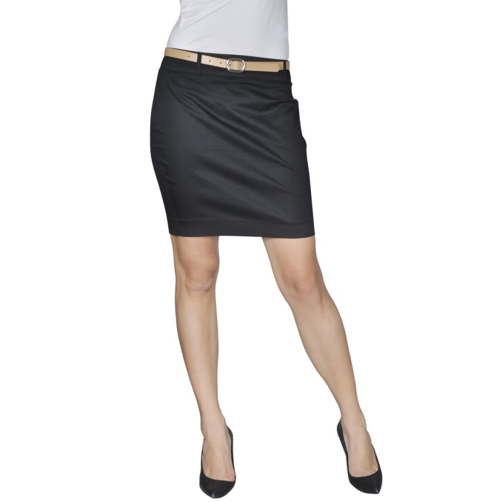 vidaXL Minijupe avec ceinture 34 Noir