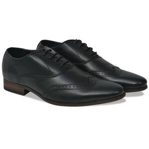 vidaXL Chaussures à lacets pour hommes Noir Pointure 41 Cuir PU