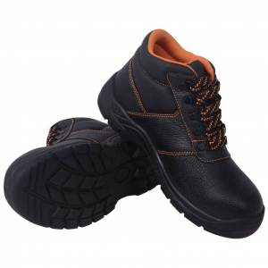 vidaXL Chaussures de sécurité Noir Pointure 45 Cuir