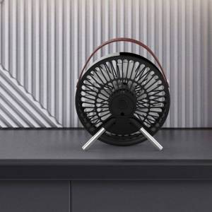 Perel Ventilateur à USB portable Noir et marron