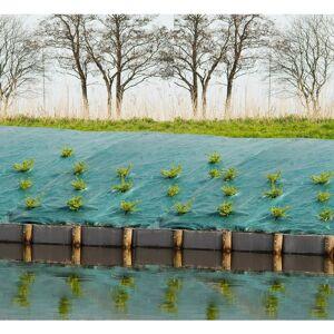 Nature Bâche de sol de contrôle des mauvaises herbes 2x5 m Vert