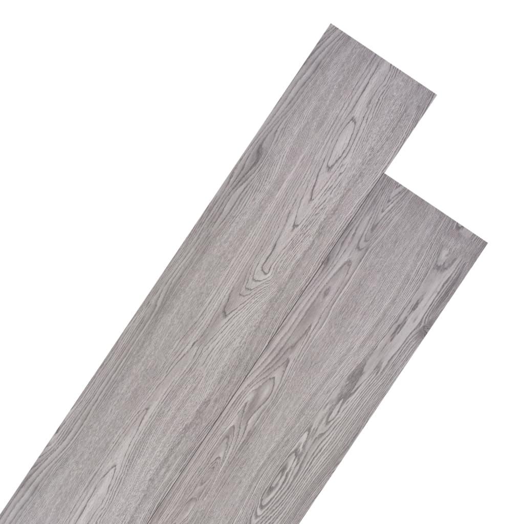 vidaXL Planche de plancher PVC 5,26 m² 2 mm Gris foncé