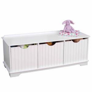 KidKraft Banc de rangement pour enfants Blanc 96x39,6x38,7 cm 14564
