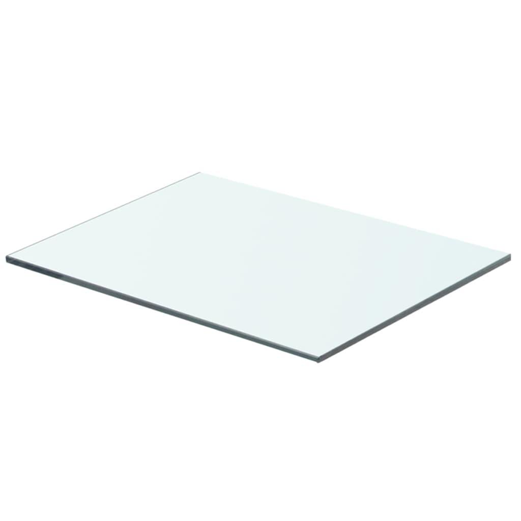 vidaXL Panneau pour étagère Verre transparent 40 x 25 cm