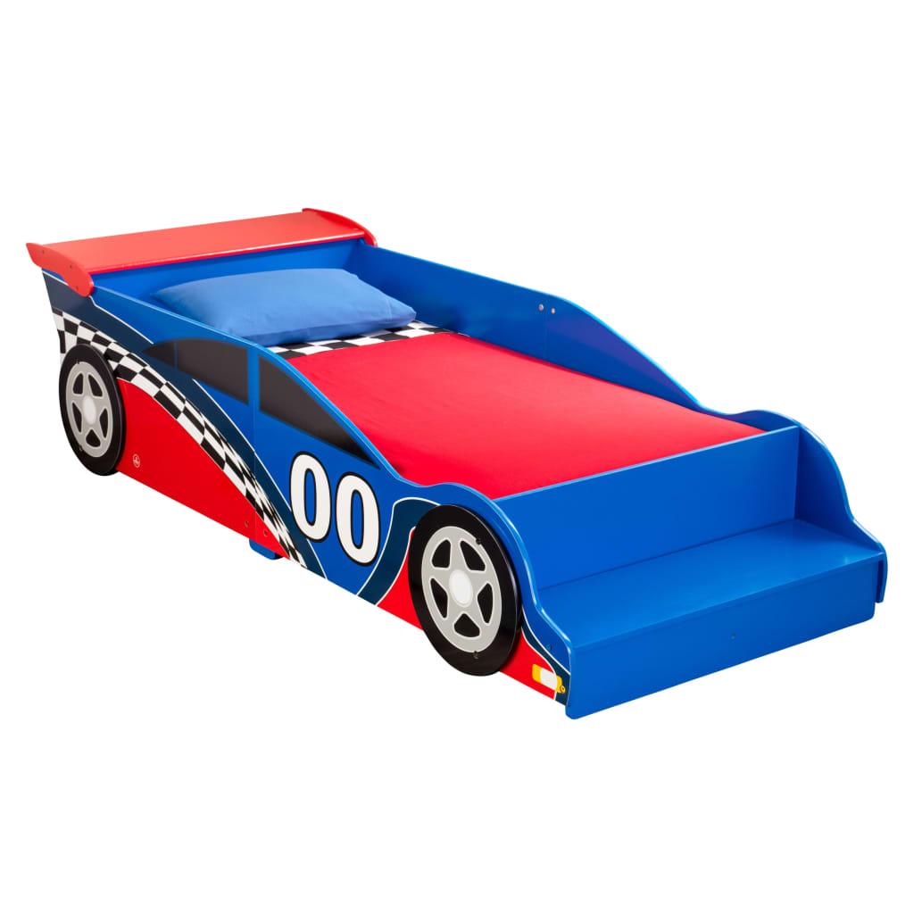 KidKraft Lit pour tout-petits Race Car Rouge et bleu