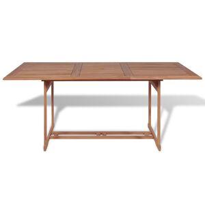 vidaXL Table de jardin 180x90x75 cm Bois de teck solide