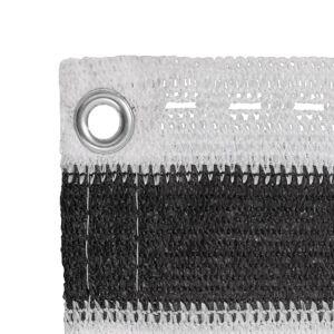 vidaXL Écran de balcon en PEHD 90 x 600 cm Anthracite et blanc