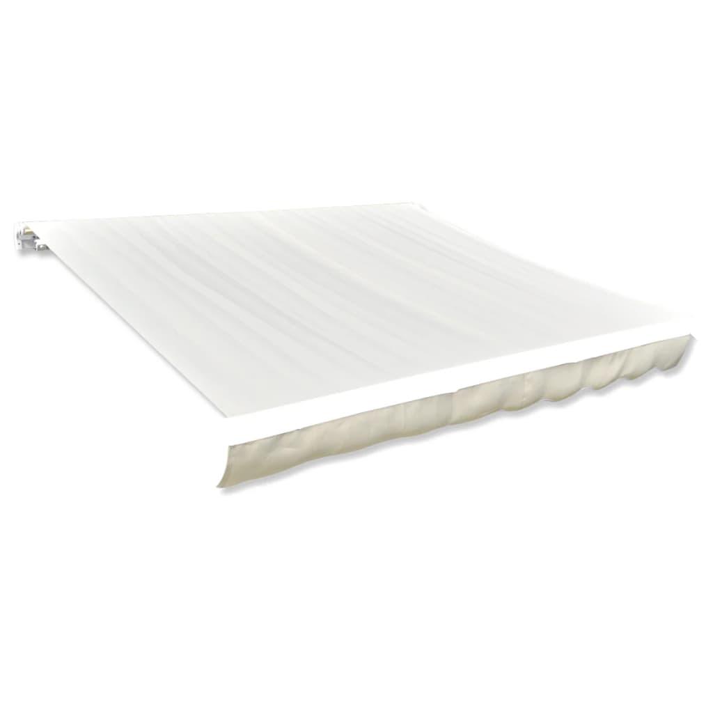 vidaXL Tissu d'auvent Toile Crème 4 x 3 m (cadre non inclus)