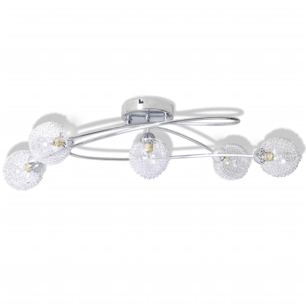 vidaXL Plafonnier avec abat-jour en fils métalliques 5 ampoules G9