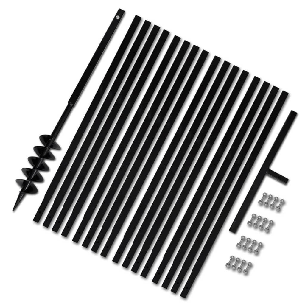 vidaXL Bêche et tarière manuelle 100 mm Avec Rallonge mèche tarière 17 m