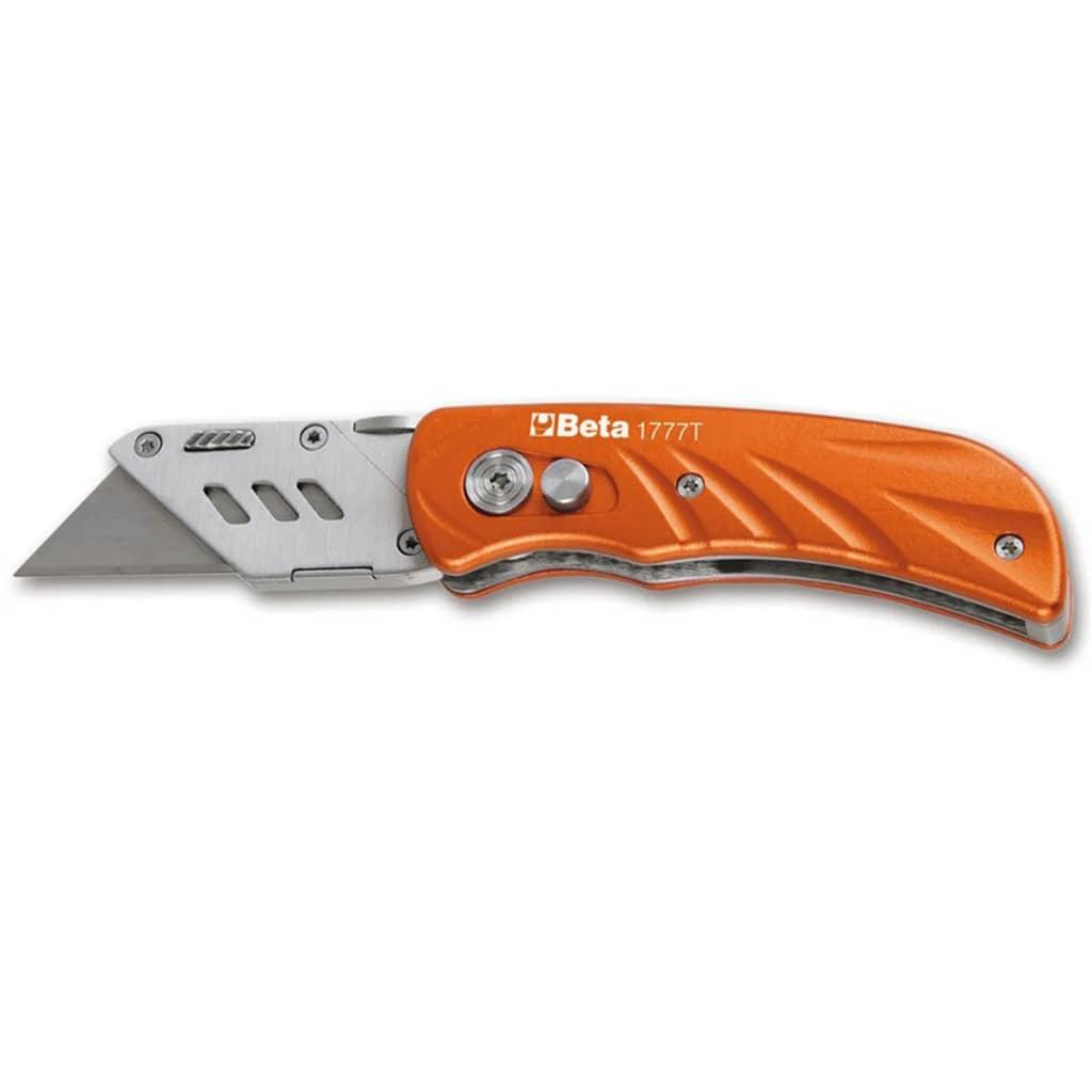 Beta Tools couteau utilitaire pliant en acier inoxydable 1777T