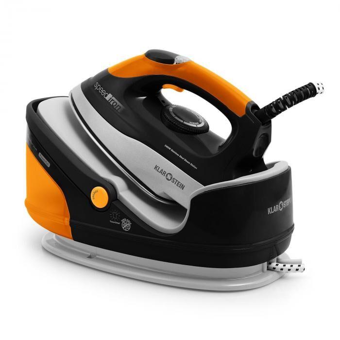 Klarstein Speed Iron Fer à repasser vapeur 2400W 1,7L orange