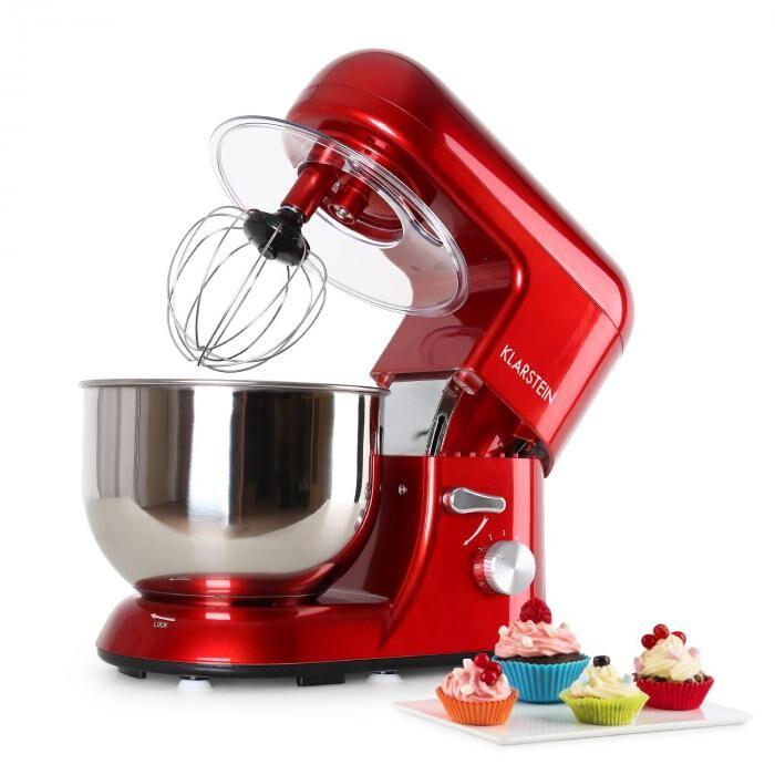 Klarstein Bella Rossa Robot de cuisine 1200W 5 litres rouge
