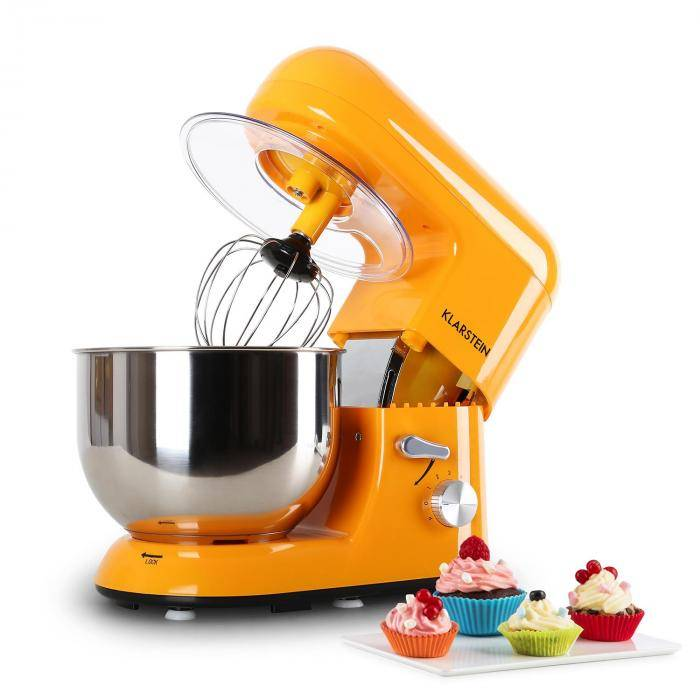 Klarstein Bella Orangina Robot de Cuisine 1200W 5 Litres - orange