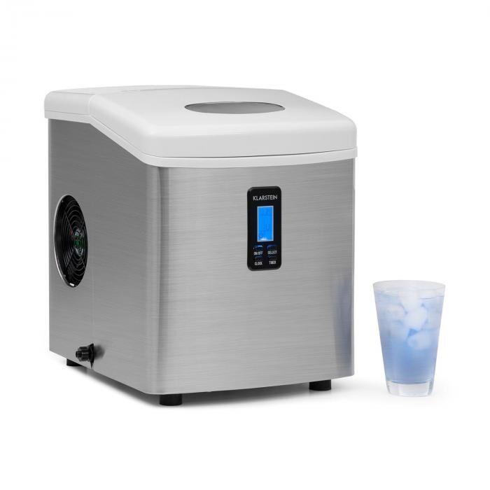 Klarstein Mr. Silver-Frost Machine à glacons 150W acier 13kg
