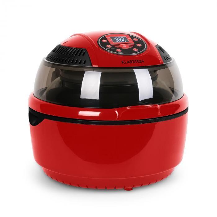 Klarstein VitAir Fryer Friteuse à air chaud cuisson sans huile 1400W -rouge