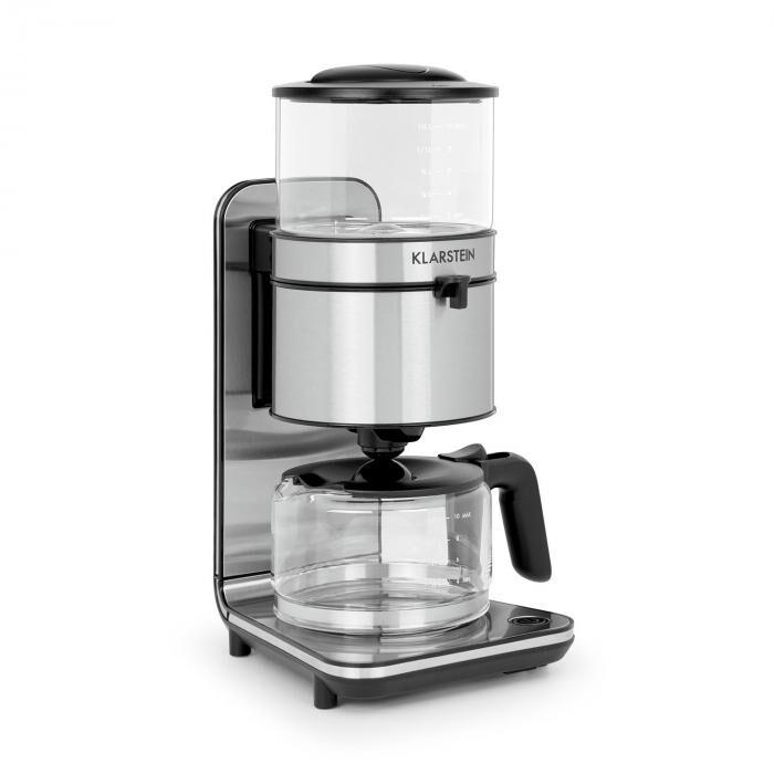 Klarstein Soulmate Machine à café cafetière filtre 10 tasses 1800W verre & inox