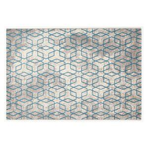 Miliboo Tapis écru à motifs bleu 160 x 230 cm SOHO