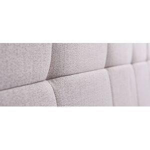Miliboo Tête de lit tissu gris clair 160 cm CLOVIS